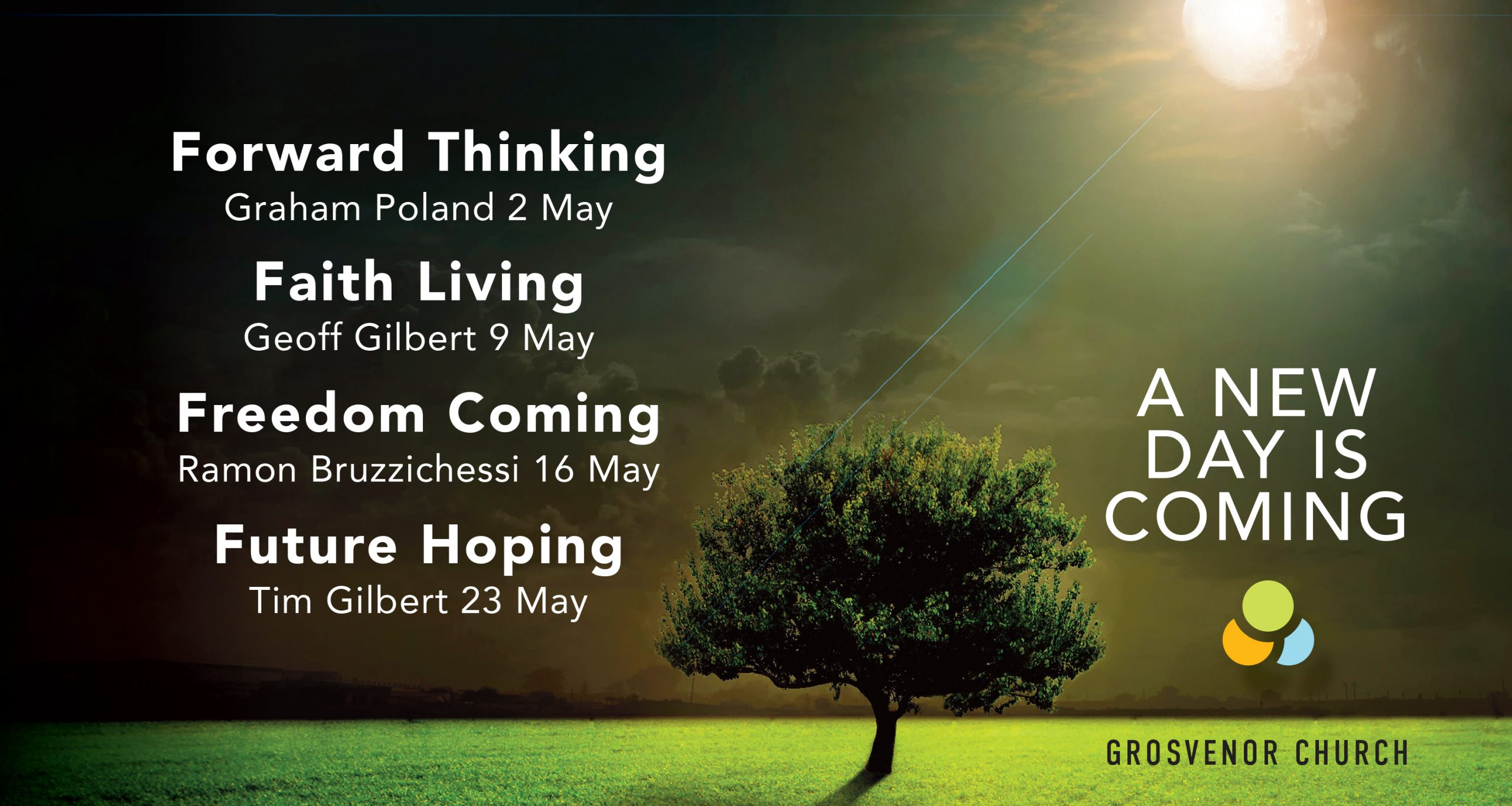 Save the dates! Join us for our May series at 10am online and 10am in-person